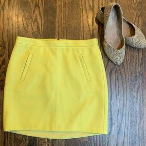 J. Crew Citron Yellow Wool Mini Skirt